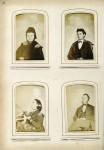 Top left image of Mary Todd Lincoln with her deceased husband, Abraham Lincoln.