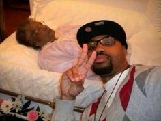 open casket selfie