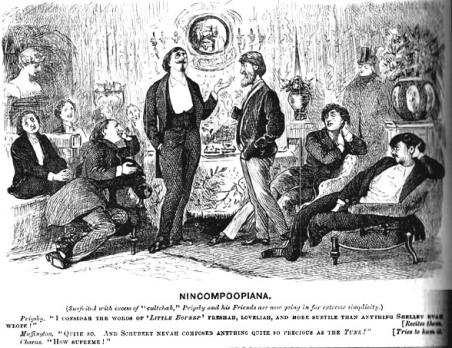 """""""Nincompoopania."""" George du Maurier, 1879."""