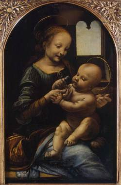 Madonna and Child with Flowers - Leonardo Da Vinci