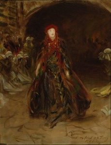 ELLEN TERRY AS LADY MACBETH, oil on canvas by John Singer Sargent at Smallhythe Place, Kent