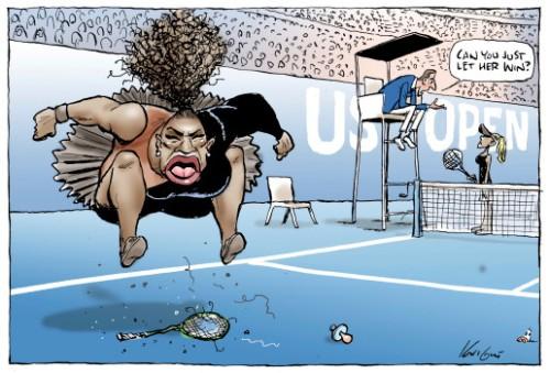 US Serena Showing Emotion