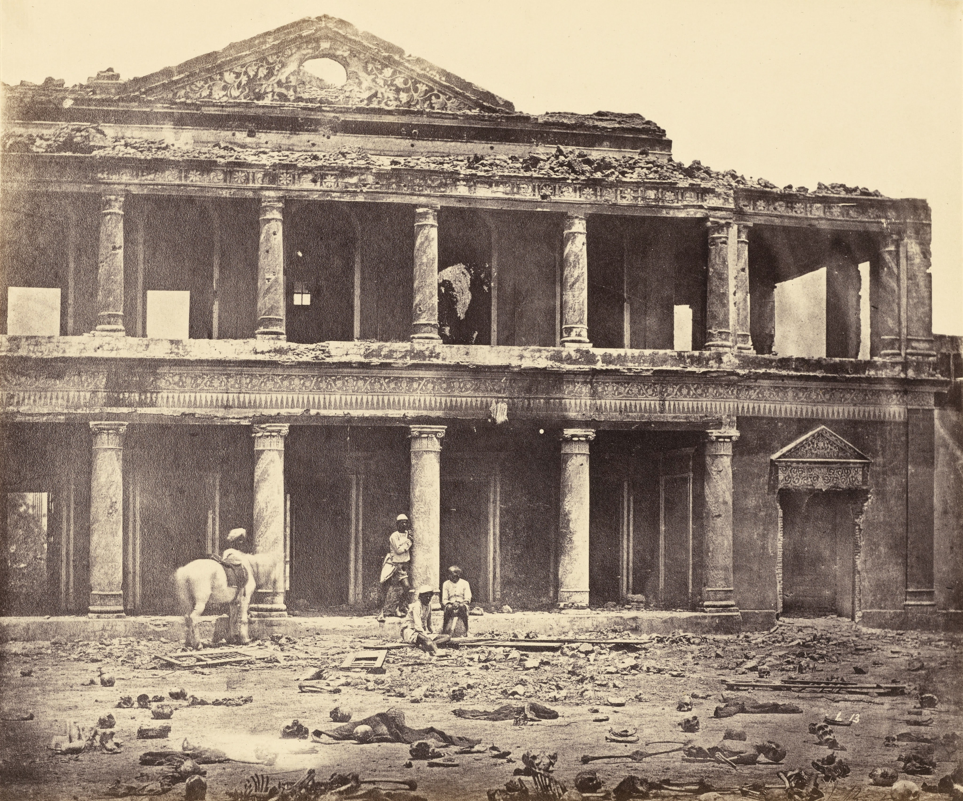 The Ruins of Sikandar Bagh Palace Showing the Skeletal ...